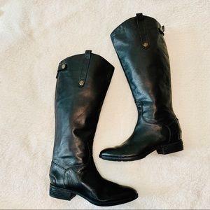 Sam Edelman Black Leather Penny2 Riding Boots